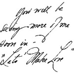 Мерлин Монро пример почерка